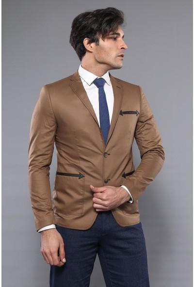 Wessi Iki Düğme Slim Fit Kahverengi Ceket