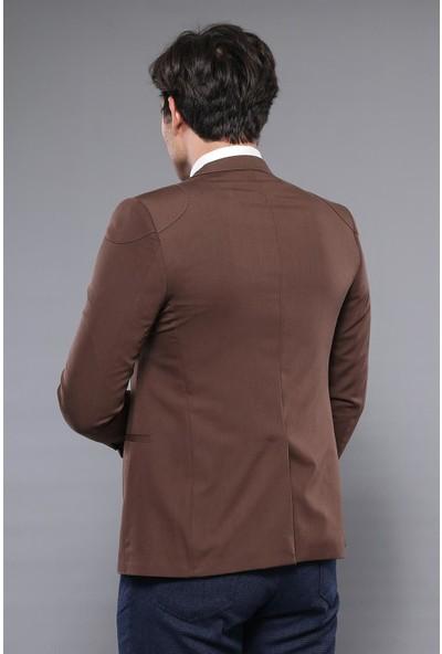 Wessi Omuz Parçalı Kahverengi Ceket