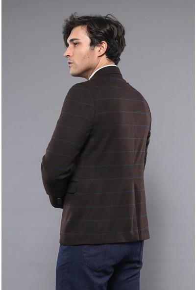 Wessi 4 Drop Klasik Kahverengi Ceket