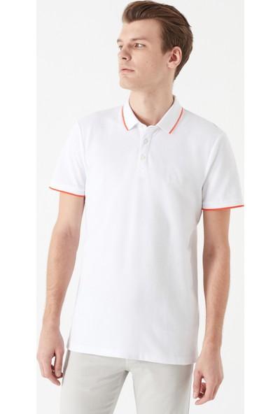 Mavi Erkek Beyaz Polo T-Shirt