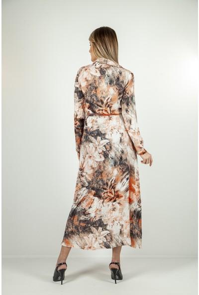 Ardanewline Kadın Somon Elbise 5305251.37