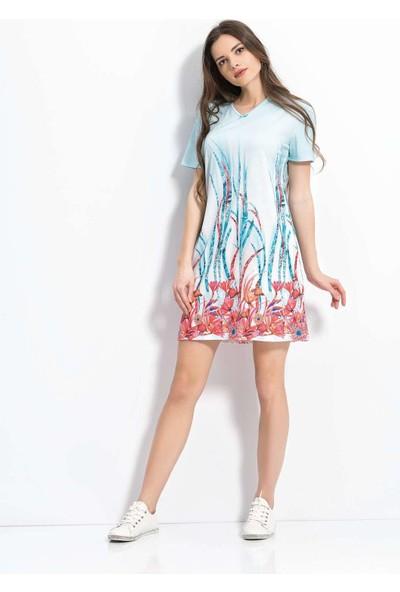 Viperia 5067 Kadın Kısa Kollu Elbise