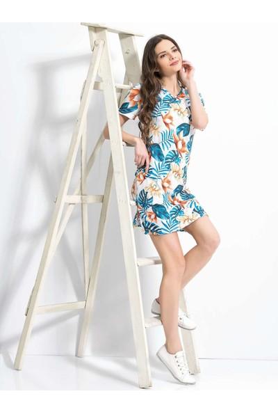 Viperia 5074 Kadın Kısa Kollu Elbise