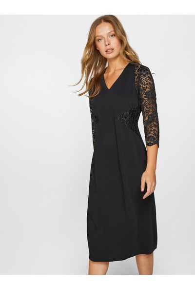 Faik Sönmez Kadın Dantel Detaylı Abiye Elbise 60102