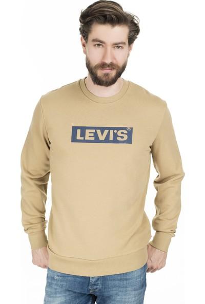 Levi's Erkek Baskılı Bisiklet Yaka Sweat