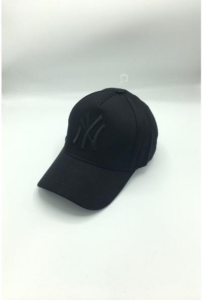 Gonca Şapka Şapka Nakışlı Ayarlanabilir Siyah