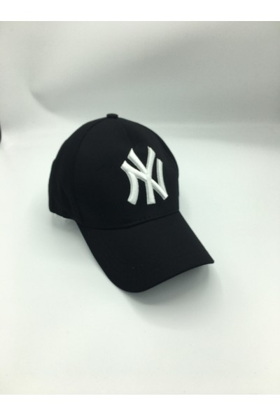 Gonca Şapka Şapka Nakışlı Ayarlanabilir Siyah - Beyaz
