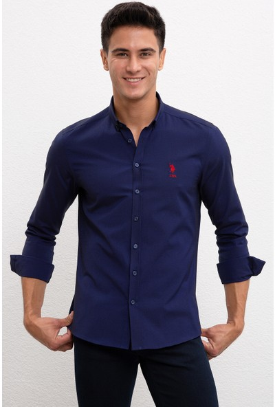 U.S. Polo Assn. Erkek Dokuma Gömlek 50226811-VR033