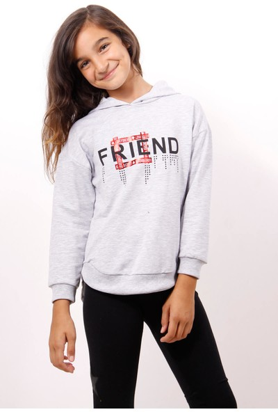Toontoy Kız Çocuk Friend Baskılı Sweatshirt