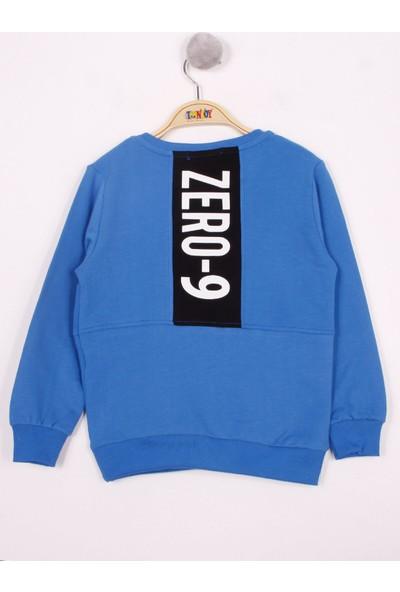 Toontoy Erkek Çocuk Zero Baskılı Cepli Sweatshirt