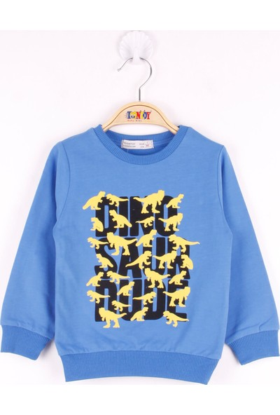 Toontoy Erkek Çocuk Dinazor Baskılı Sweatshirt