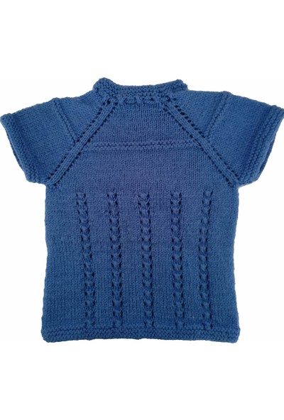 Nuh Home El Yapımı Erkek Çocuk Kışlık Yelek Mavi Renk Yelek 0 - 2 Yaş