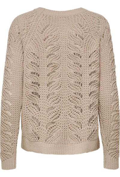 Only 15179820 Kadın L/S Knit Onllyla L/S Structure Pullover Knt Kazak