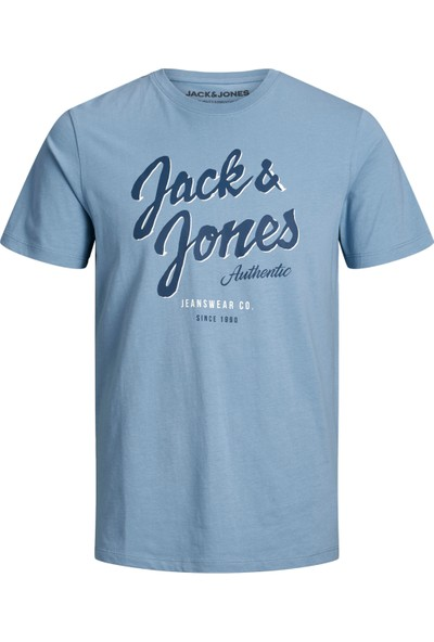 Jack & Jones 12164848 Erkek Jjelogo Tee Ss O-Neck 2 Col Ss20 Noos T-Shirt 20Y