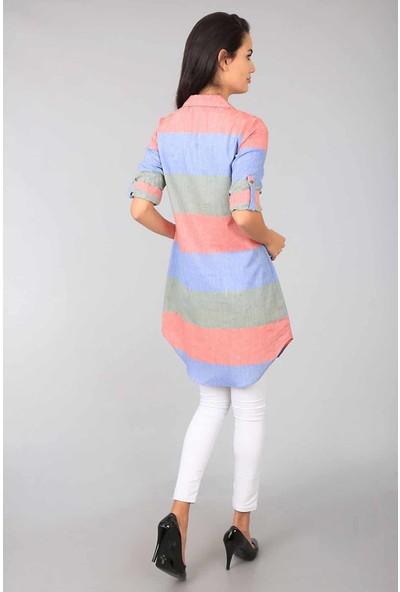 Bigdart 5616 Günlük Kadın Tunik Boy Kadın Gömlek