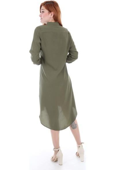 Bigdart 5722 Çıtçıtlı Günlük Kadın Tunik