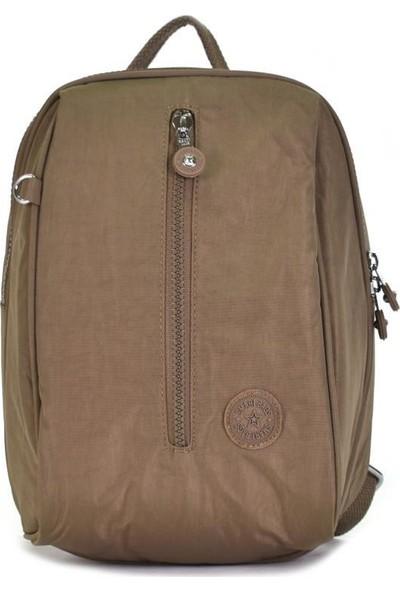 Smart Bags Krinkıl Kumaş Acık Kahve Kadın Sırt Çantası 1233