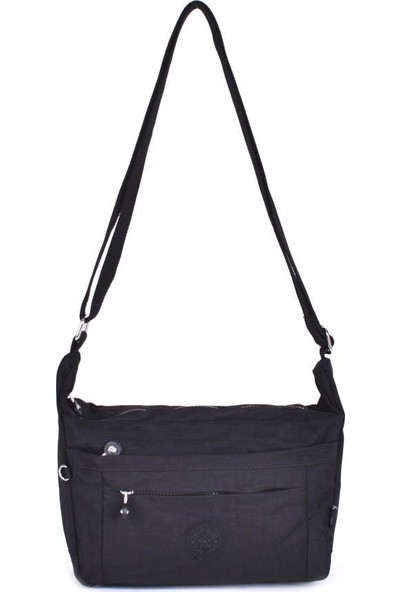 Smart Bags Krinkıl Kumaş Siyah Kadın Çapraz Çanta 3001