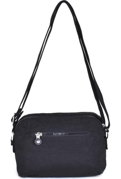 Smart Bags Krinkıl Kumaş Siyah Kadın Çapraz Çanta 3002