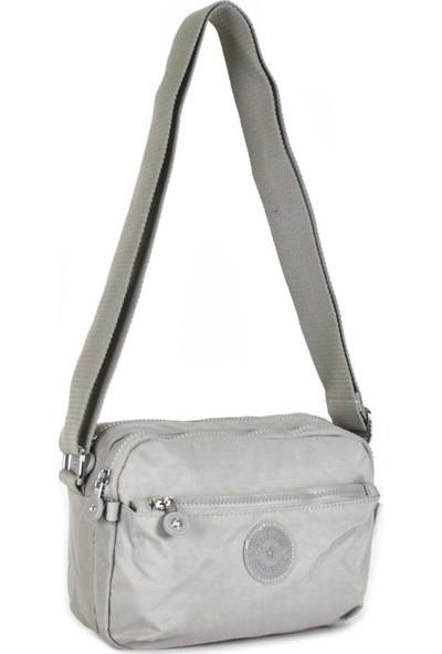 Smart Bags Krinkıl Kumaş Ice Gri Çapraz Çanta 3029