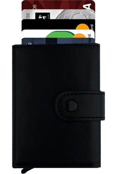 Garbalia Garnet Mekanizmalı Siyah Kartlık Cüzdan