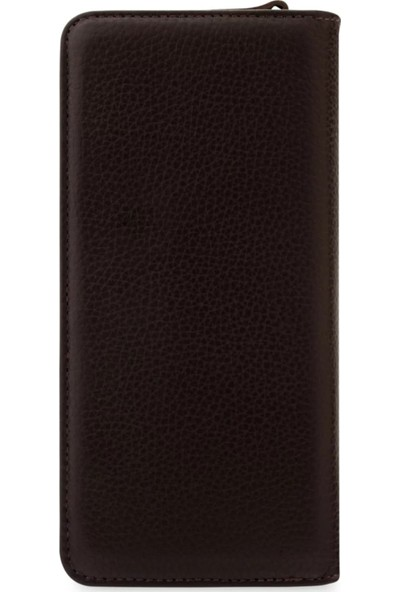 Vianel New York Lucca Deri Kahverengi Kadın Cüzdanı