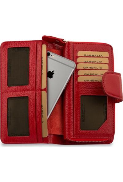 Vianel New York Lucca Deri Kırmızı Kadın Cüzdanı