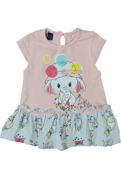 Miniworld Fil Baskılı Kız Elbise