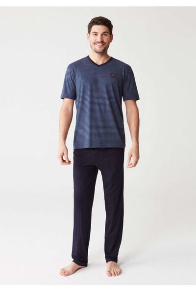 Mod Collection 3230 Erkek Pijama Takımı - Lacivert Melanj