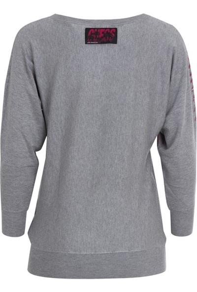 Guess W01R0Hz2760 Kadın Sweatshirt Gri