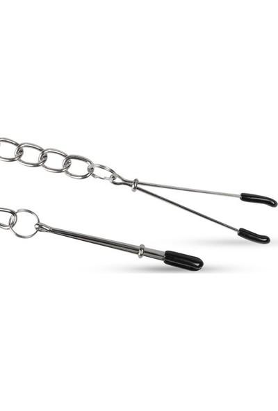 Easytoys Fetish Collection Zincirli Göğüs Ucu Kıskaçları Fetiş