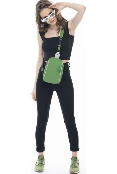 Benetton Kadın Vücut Çantası Yeşil-A.gri BNT337