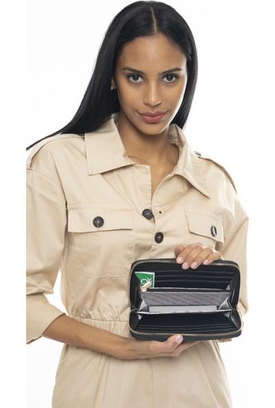 Benetton Kadın Cüzdan Siyah BNT318
