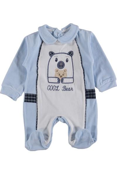 Pattic Baby Kadife Ayı Nakışlı Bebe Tulum