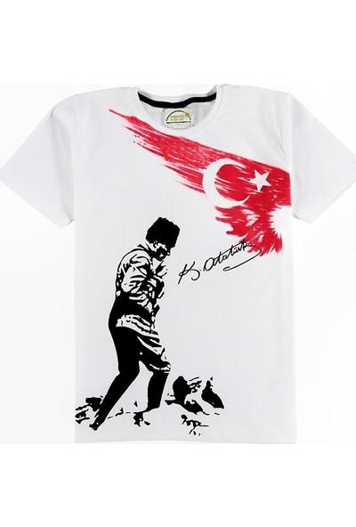 Kidsmadamiko Atatürk Tişört Baskılı Çocuk 14-17 Yaş Beyaz 25474125