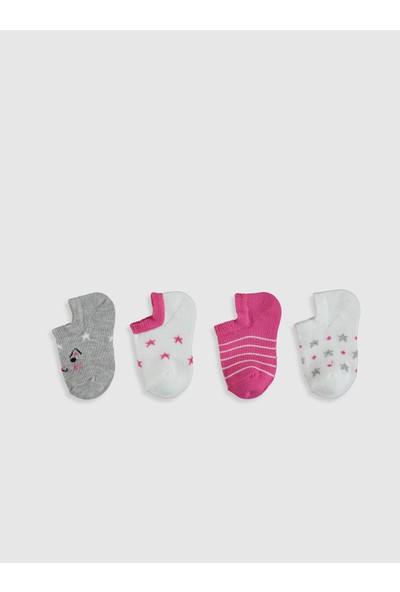 LC Waikiki Kız Bebek Patik Çorap 4'lü