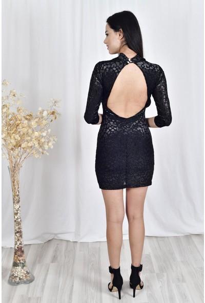 The Most Fashion Sırt Dekolteli Elbise 36