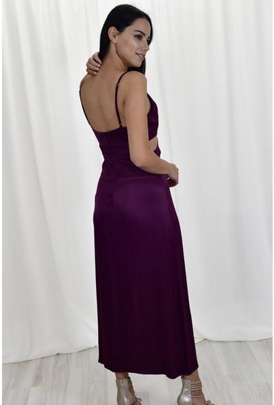 Miss Cixs Abiye Saten Elbise M