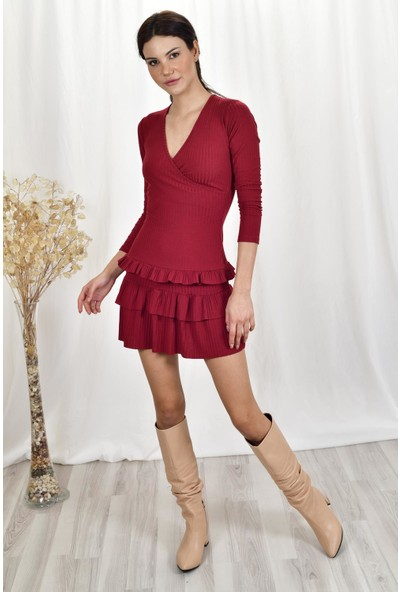 The Most Fashion Fırfırlı Elbise L