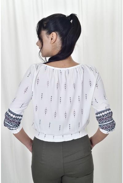 The Most Fashion Bel Lastikli Bluz L