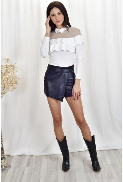 The Most Fashion Tül Detaylı Bluz M