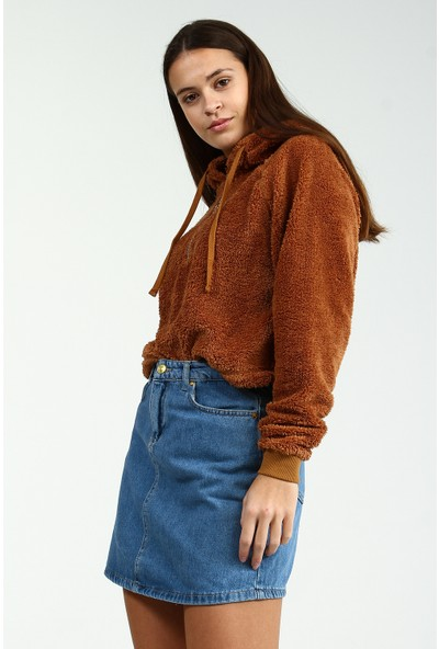 Collezione Kadın Taba Regular Sweatshirt