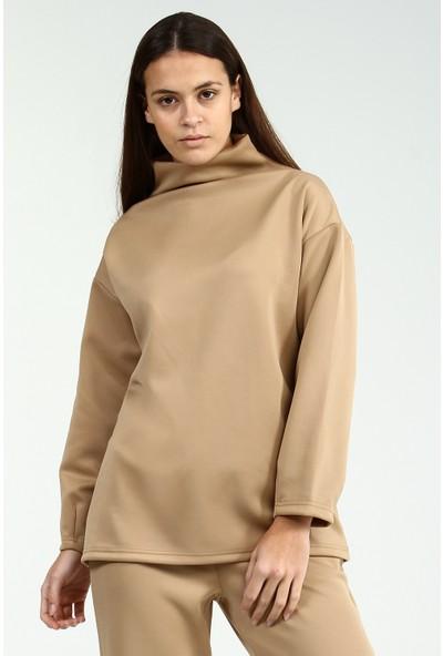Collezione Kadın Taş Regular Sweatshirt