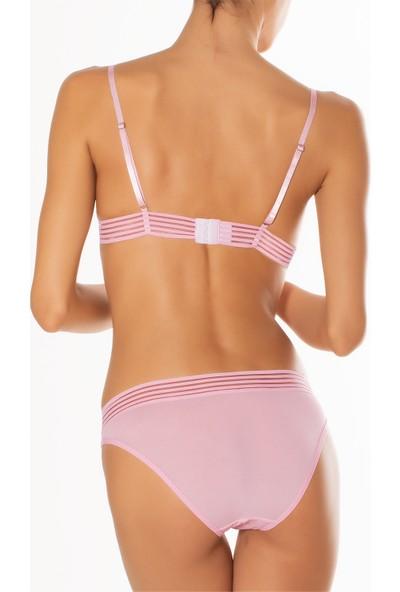 Miorre Kadın Push Up Pink Line Sütyen Takım