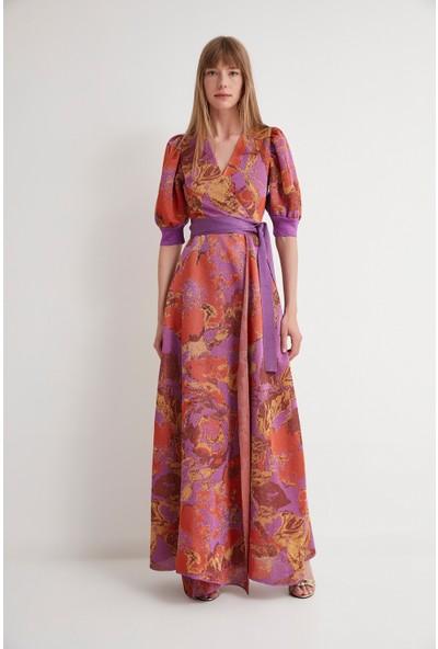 Join Us Yırtmaçlı Triko Elbise