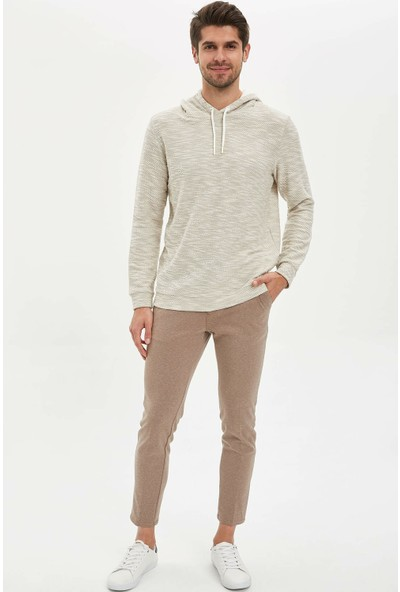 DeFacto Erkek Kapüşonlu Regular Fit Sweatshirt