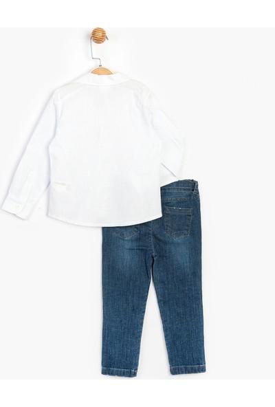 Panolino Çocuk Kot Pantolon Gömlek Takım 15718