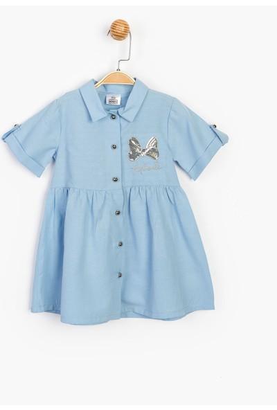 Disney Düğmeli ve Pullu Elbise 15499