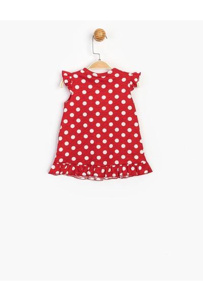 Disney Bebek Ponponlu Elbise 15547