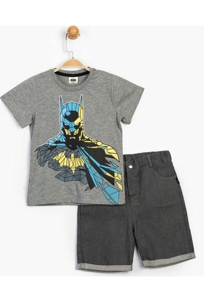 Batman Çocuk Kot Şortlu Takım 15641